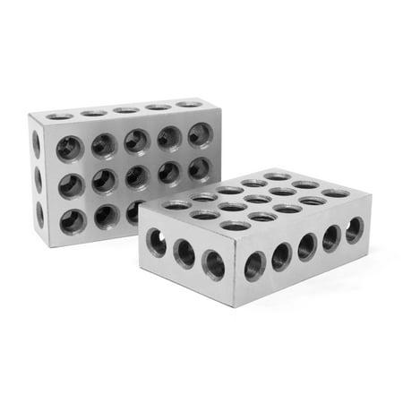 Steel Jointer - WEN 3 x 2 x 1-Inch Steel-Hardened Precision 123 Blocks, Two Pack