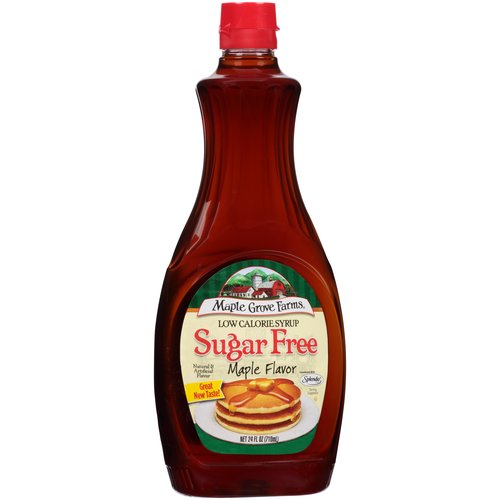 Maple Grove Farms Sugar Free Low Calorie Maple Flavor Syrup, 24 fl oz
