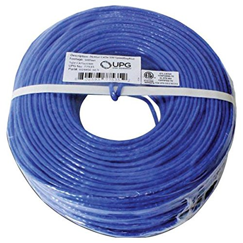 Universal Battery 77535 Upg 77535 24-gauge Cat-5e Cable With 500ft Speed Bags [blue Jacket]