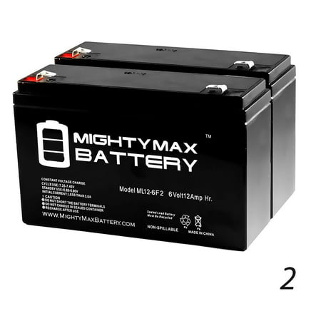 6V 12AH F2 SLA Replacement Battery for Fullriver HGL14-6TS - 2 Pack
