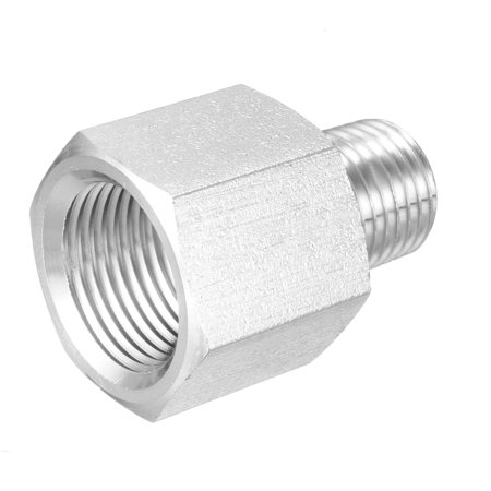 """Pipe to Fitting Adapter, Pressure Gauge Adapter 1/4"""" NPT Male Pipe x 3/8"""" NPT Female Pipe"""