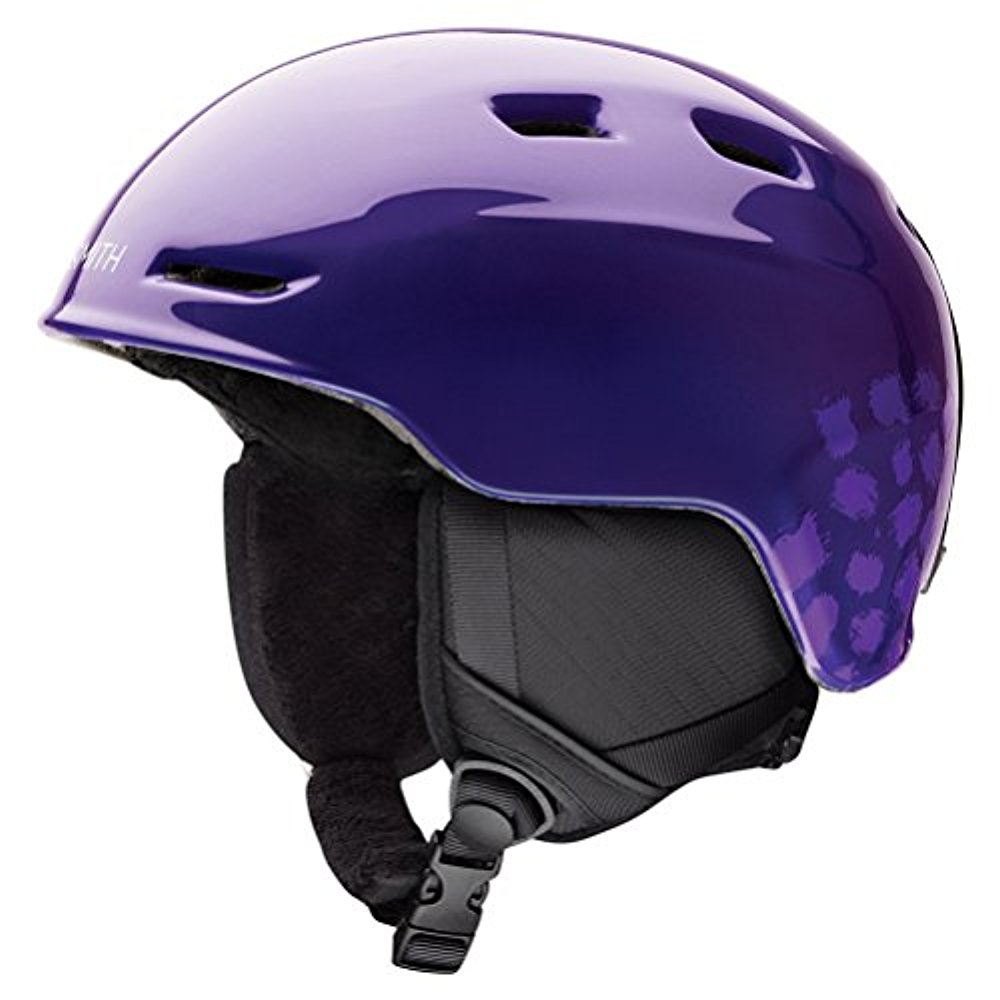 Smith Optics Zoom Jr Ski Snow Helmet (Ultraviolet Brush Dots Youth Medium) by Smith Optics