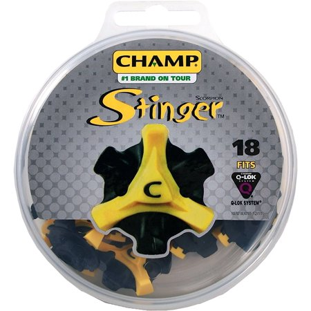 Scorpion Stinger Q-Lok Spikes (18 ct. Disk) - Yellow/Black, Includes 18 replacement cleats that fit Q-Lok insert systems By