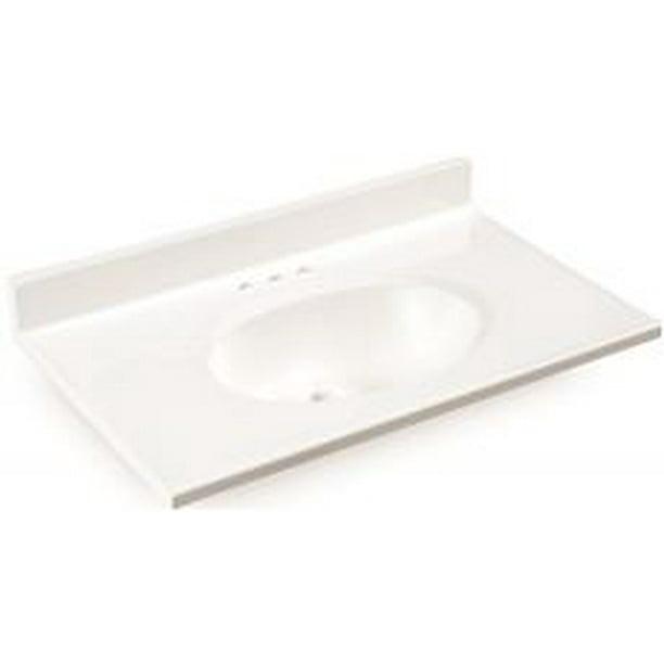 premier bathroom vanity top cultured marble white 25 in x19 in