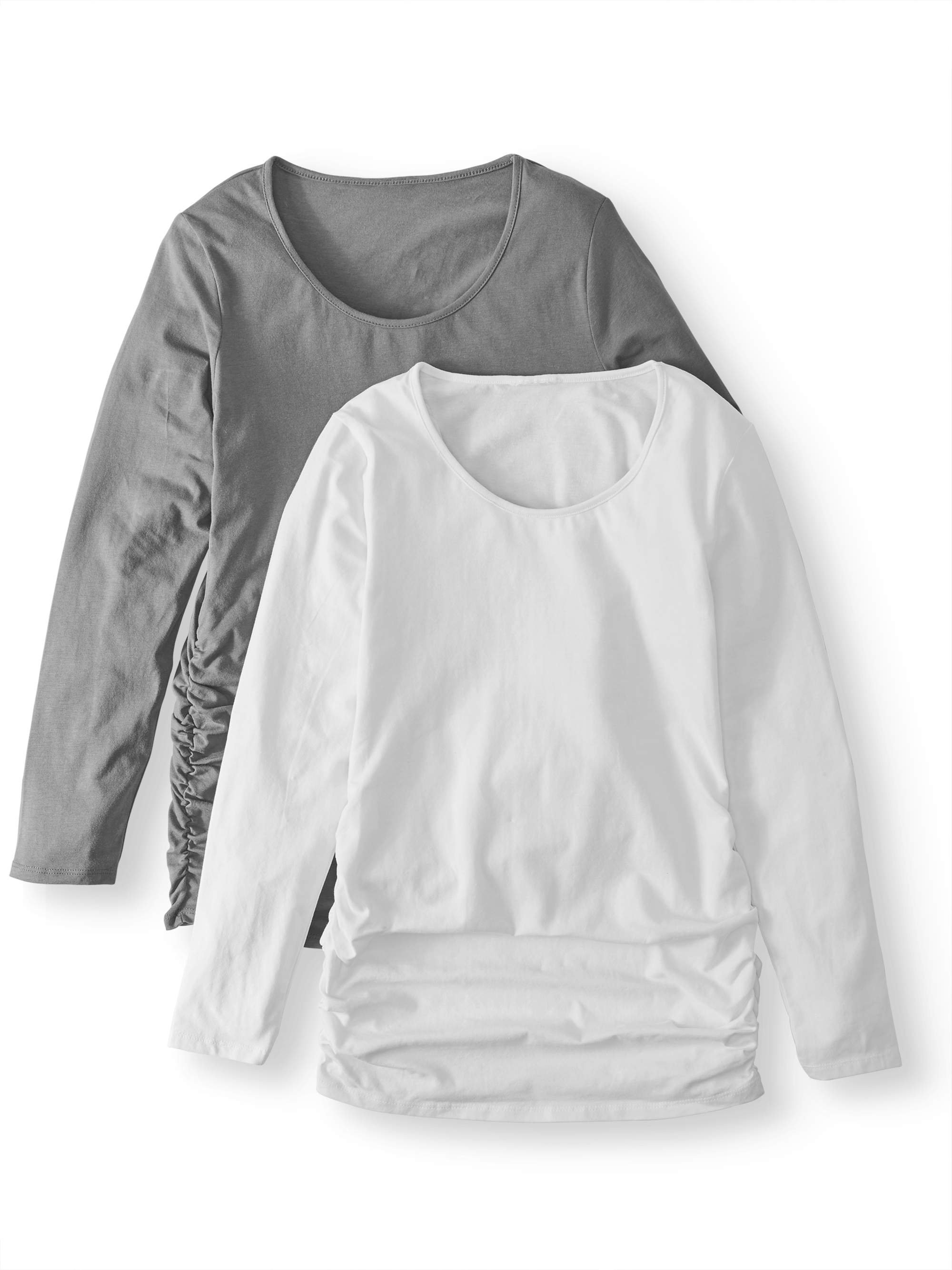 Maternity Long Sleeve Top, 2-Pack Available in Plus Sizes by I E INDUSTRIES