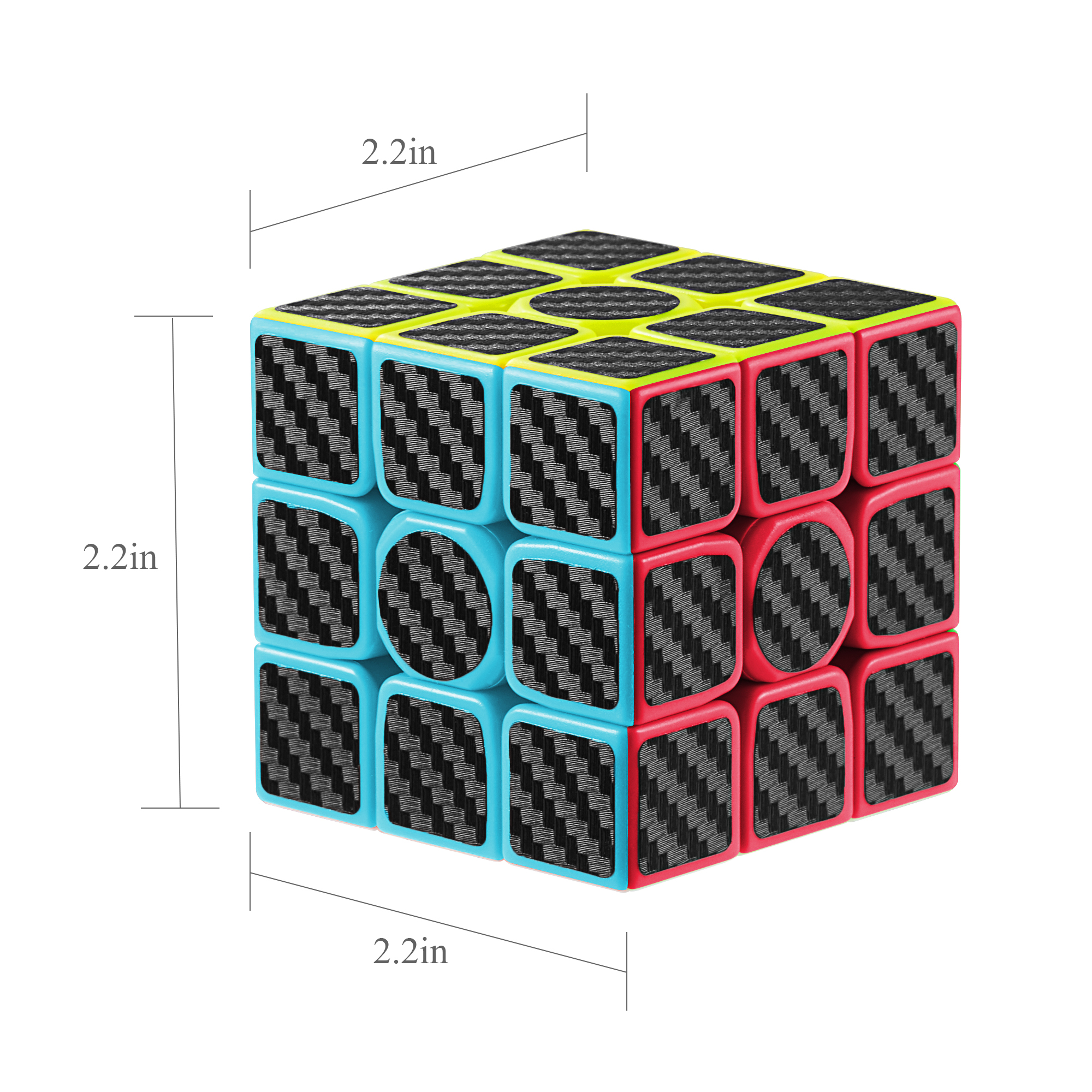 3 x 3 Stickerless Speed Magic Rubix Cube Rubiks Cube Kids Adults Fun Puzzle Toys