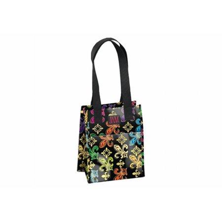 Joann Marie Designs P2lb2bfdl Poly Lrg  Lunch Bag   Black Fleur De Lis Pack Of 6
