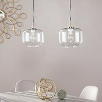 Adrienne Glass Pendant Lamps - 2pc Set