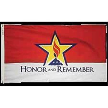 Annin Flagmakers 3014 4 X 6 Ft  Nylon   Glo Honor And Remember Flag
