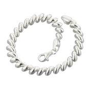 """6mm Italian Sterling Silver San Marco 8"""" Chain Bracelet"""