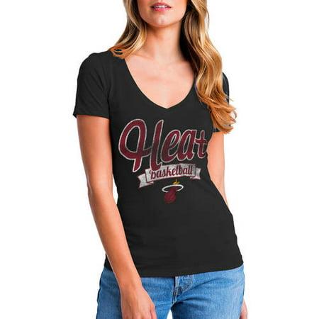 NBA Miami Heat Women's Short Sleeve Graphic Tee (Miami Heat Tee)