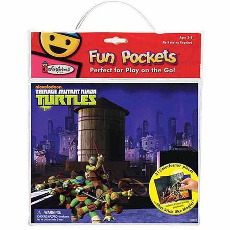 Teenage Mutant Ninja Turtles Colorforms Fun Pocket