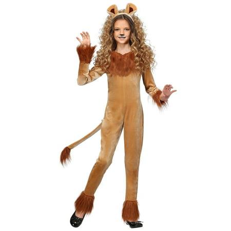 Girl's Fierce Lion Costume - Cheap Lion Costume