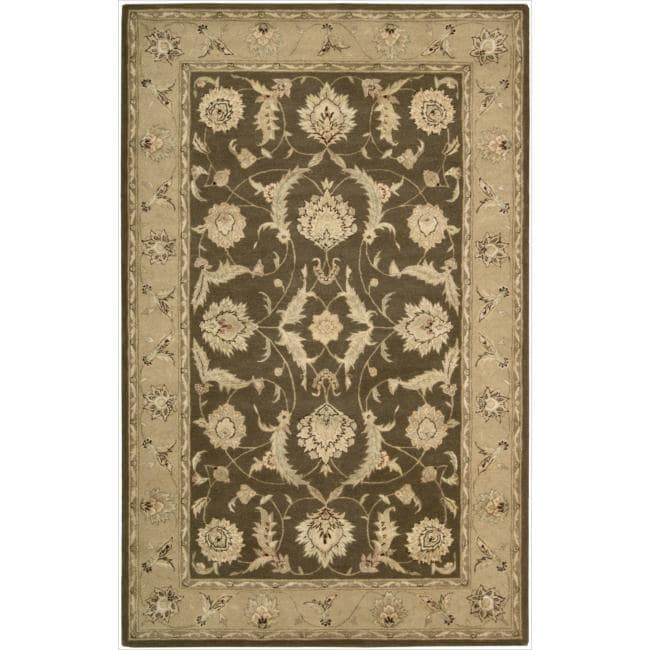 """Nourison  3000 Hand-Tufted Brown Accent Rug (2'6 x 4'2) - 2'6"""" x 4'2"""""""