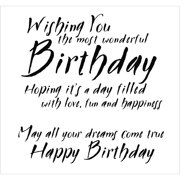 """Woodware Clear Stamps 3.5""""X3.5""""-Most Wonderful Birthday"""