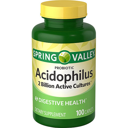 Spring Valley Probiotic Acidophilus Dietary Supplement Caplets, 100 count