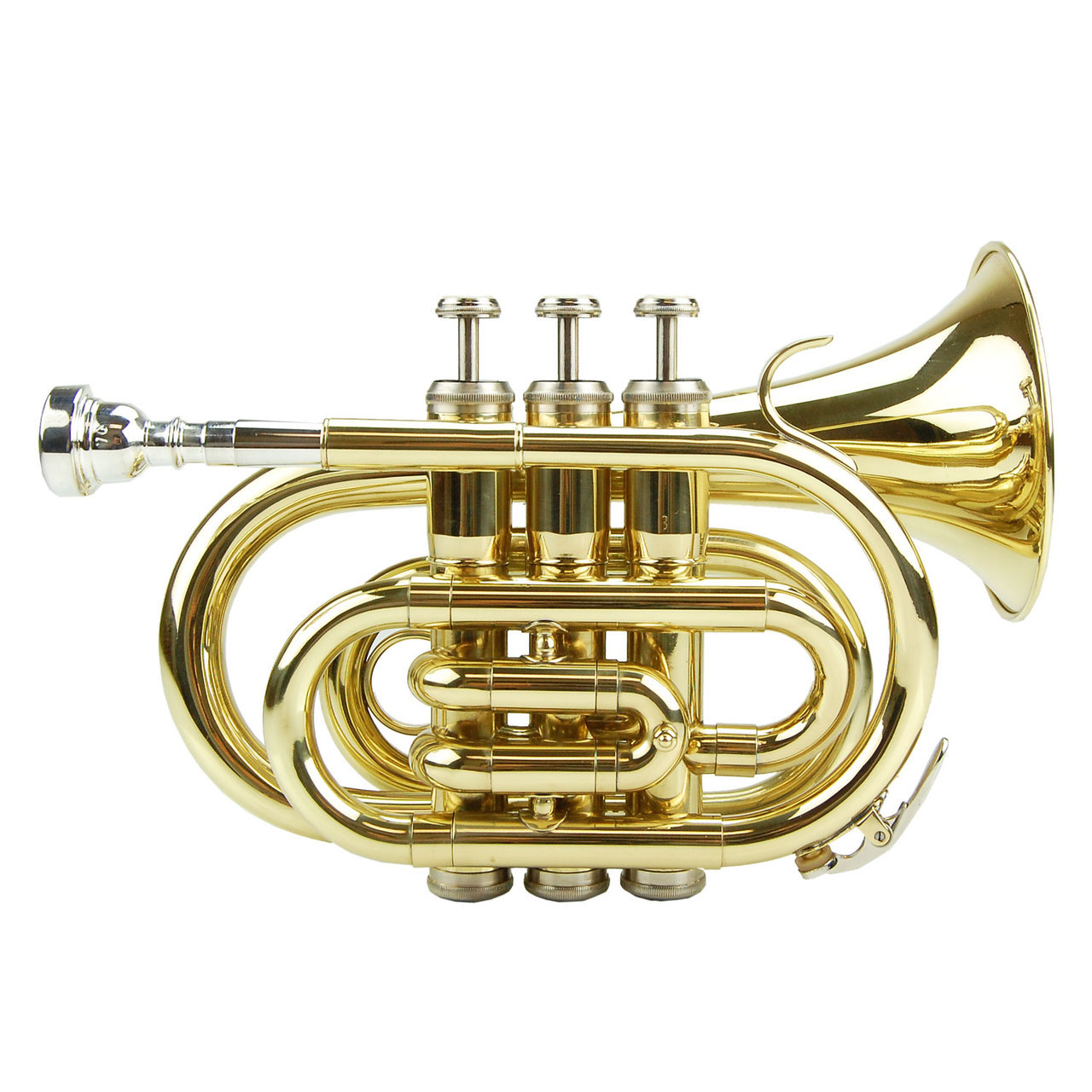 Merano B Flat Gold Brass Pocket Trumpet