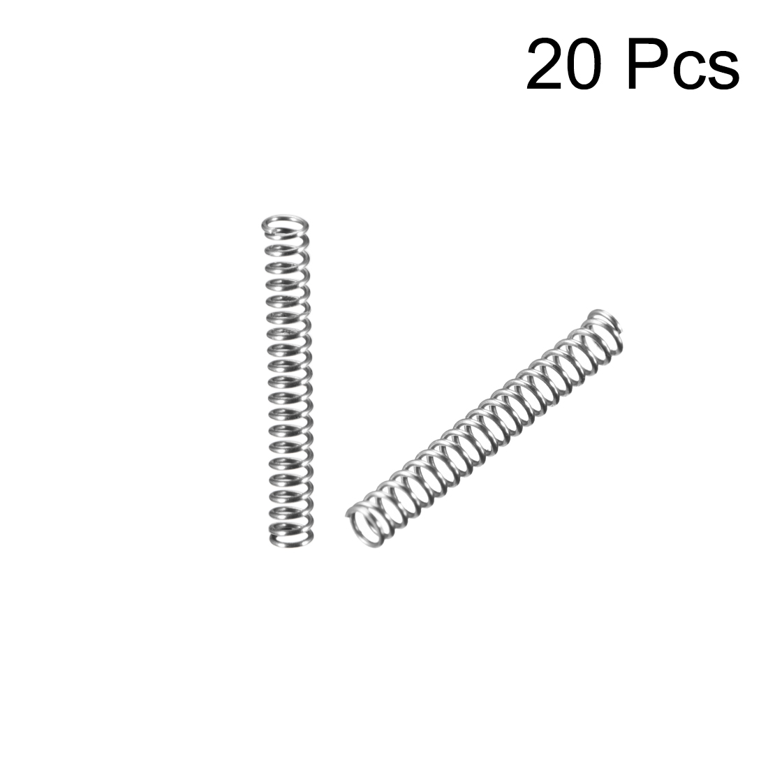 0.3x2x15mm Stainless Steel Coil Extended Compressed Spring 20Pcs - image 1 of 3