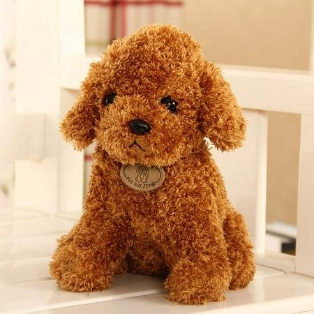 Cute Simulation Dog Plush Toy Puppy Doll Teddy Dog Kid Baby Gift