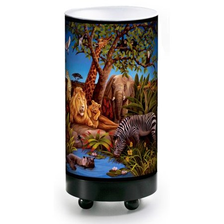 Illumalite designs jungle table lamp for Table design jungle