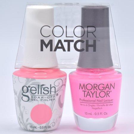 Gelish Gel Polish & Morgan Taylor Nail Polish Duo #1110178 - Look At You, Pink-achu! 0.5 oz