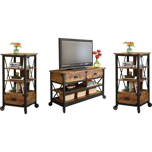 Better Homes and Gardens Rustic Country 3 Piece Entertainment Center, for TVs up to 52""