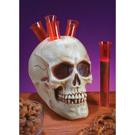 Halloween Decor Skull Skeleton Head Shots Shot Glass Glasses Holder Party Supply