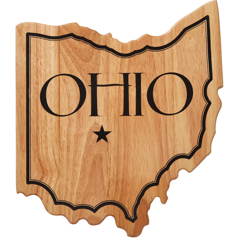 Farberware Ohio State Shaped Rubber Wood Cutting Board