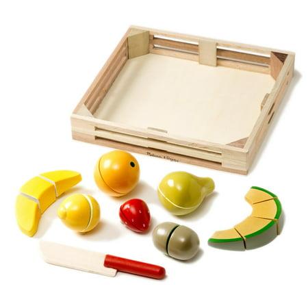 Melissa Doug Cutting Fruit Set Wooden Play Food Kitchen Accessory Walmart Canada