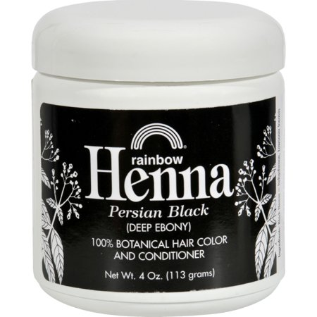 Rainbow Research Henna Hair Color and Conditioner Persian Black Deep Ebony - 4