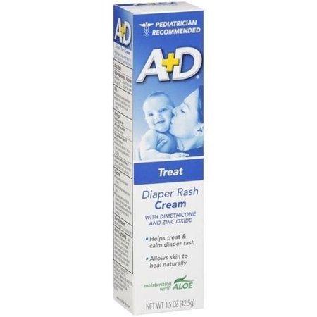 A + D Diaper Rash Cream Treatment with Aloe 1.5oz