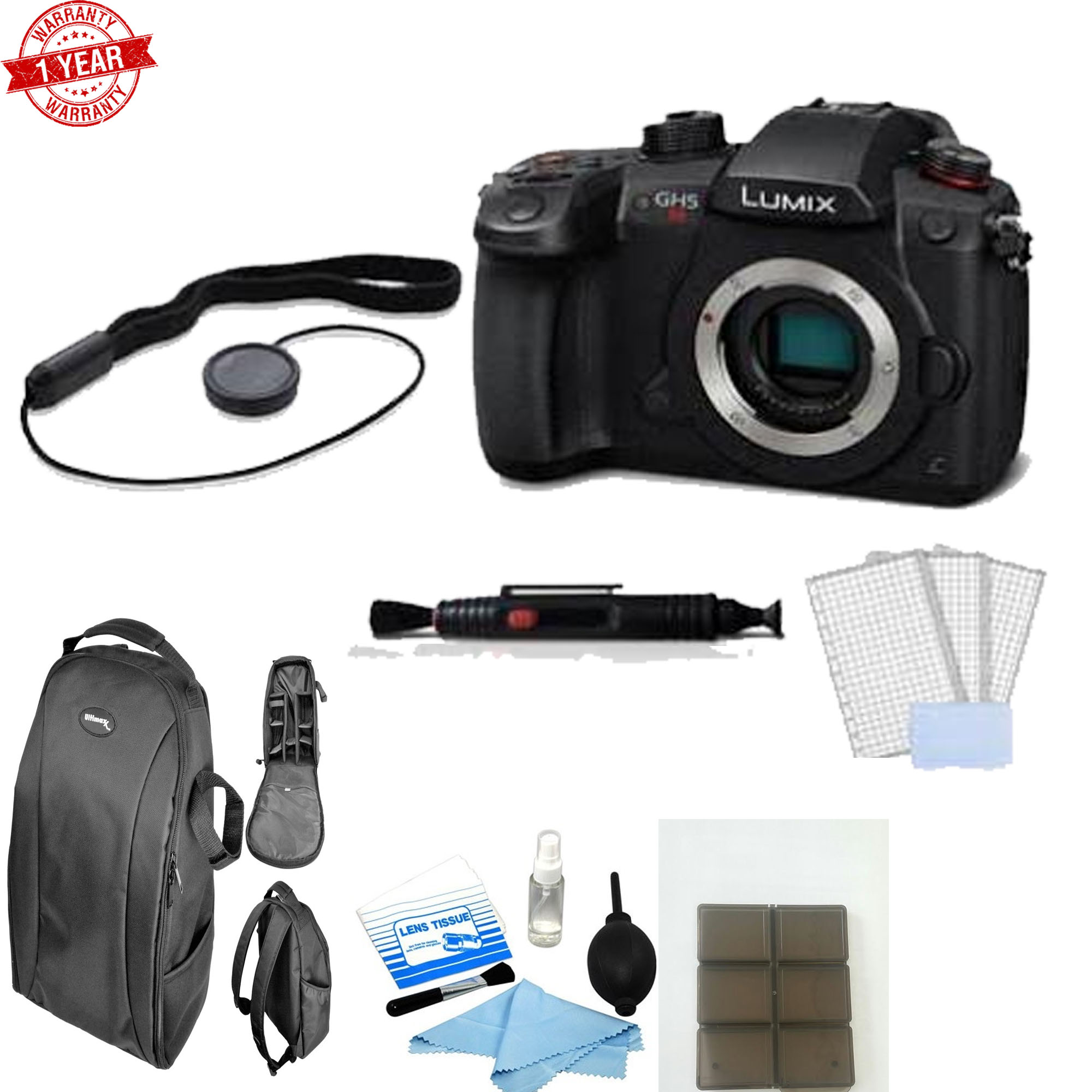 Panasonic Lumix DC-GH5S Mirrorless Micro Four Thirds Digital Camera with Additional Accessories - image 1 de 1
