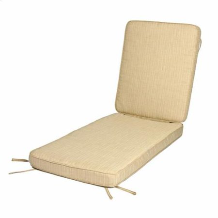 Humble and Haute Deluxe Teak Hinged Chaise Cushion with Sunbrella Fabric