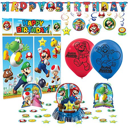 Super Mario Bros Premium Birthday Party Pack Decoration Kit - Super Mario Bros Decorations