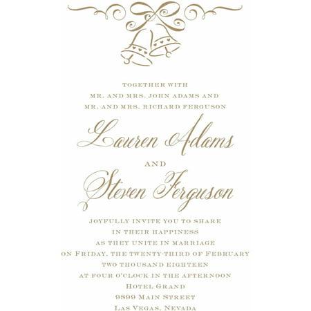 Wedding Bells Standard Wedding Invitation