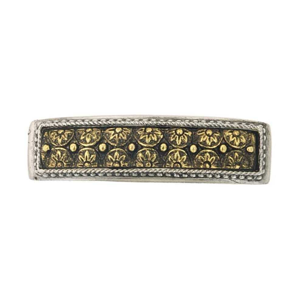 1928 Jewelry Women's Silver/Gold-Tone Antiqued Floral Barrette Hair Accessory