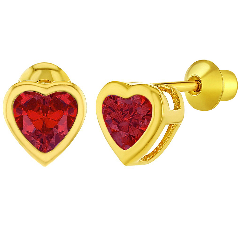 10K Solid Gold Cyber Monday Deals Sparkling White Cubic Zirconia Minnie Mouse Stud Earrings In 14K Gold Over Sterling Silver