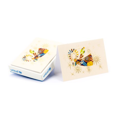 Hallmark UNICEF Colorful Angel Christmas Boxed Greeting Cards, Cards 12 Ct + Envelopes 13 Ct ()