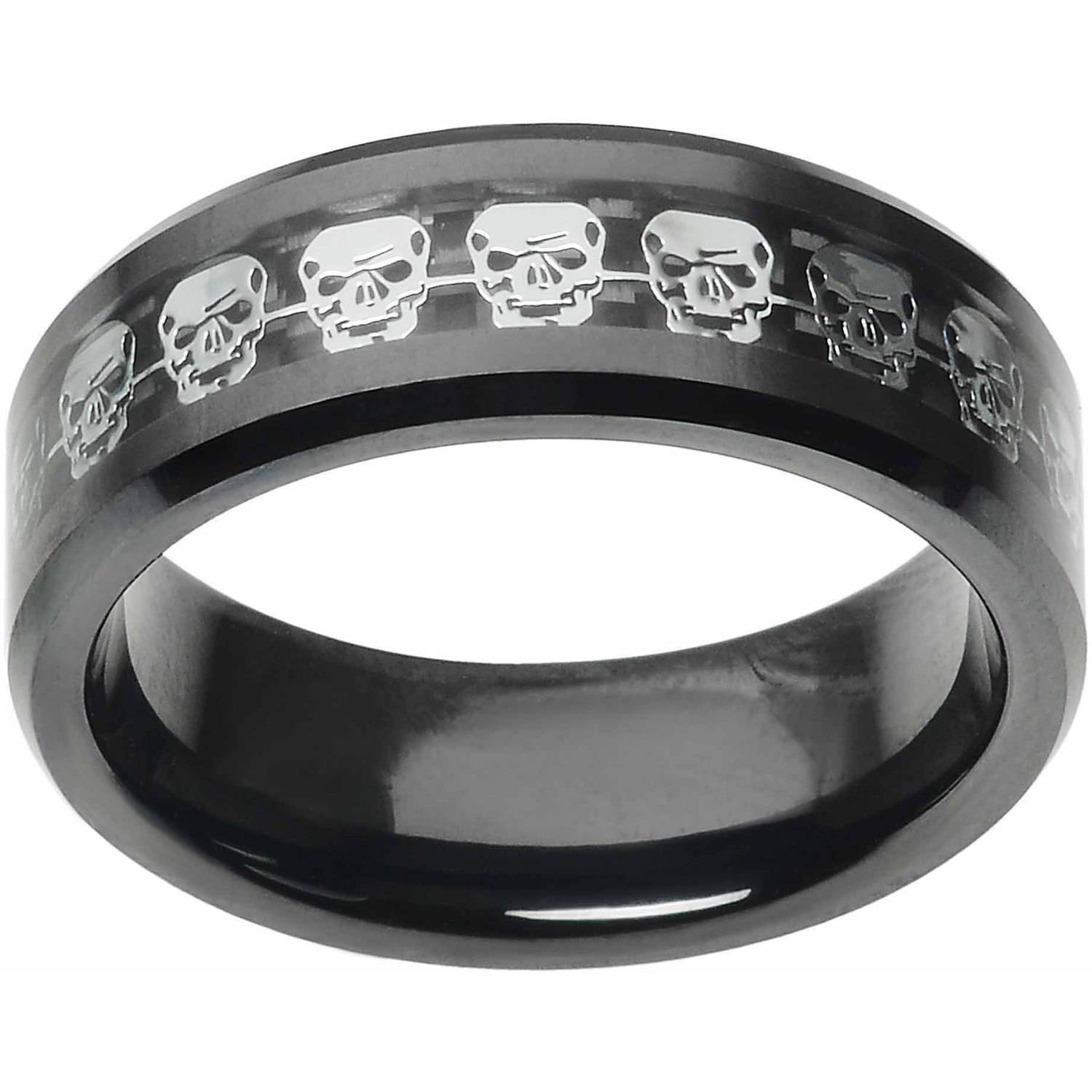 Daxx Men's Ceramic Carbon Fiber Skull In