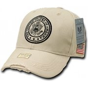 RapDom The United States of America Seal Douglas Mens Cap [Khaki - Adjustable]