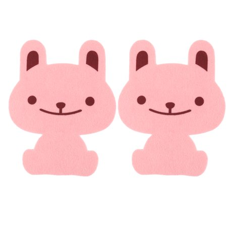 Uxcell Home Foam Rabbit Pattern Removable Water Resistance Toilet Lid Sticker 2