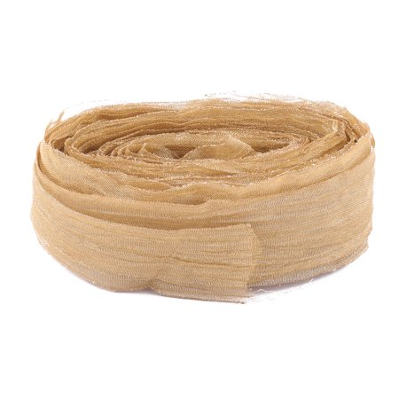 Holiday Organza Handicraft DIY Sewing Ribbon String Bundling Gold Tone 10 Yards