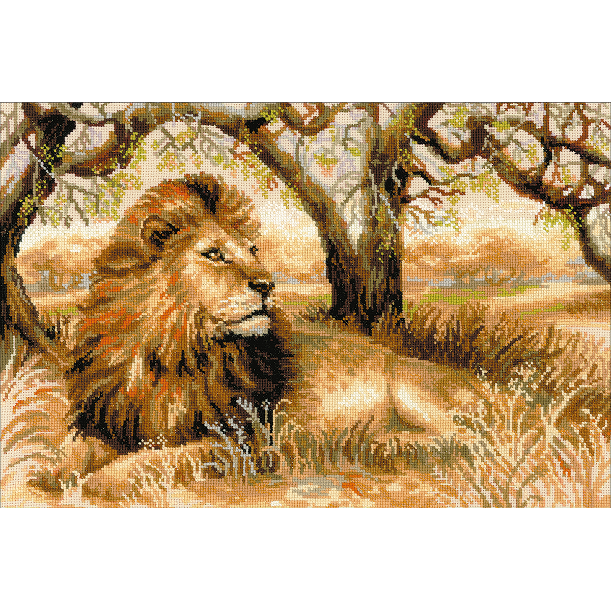 "Riolis Counted Cross Stitch Kit 23.5""X15.75""-King Of Beasts (10 Count) - image 1 de 1"