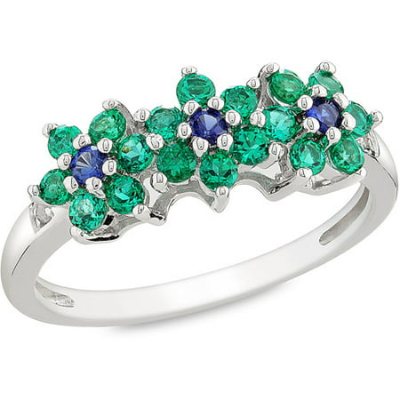 5 8 Carat T G W Created Sapphire And Created Emerald