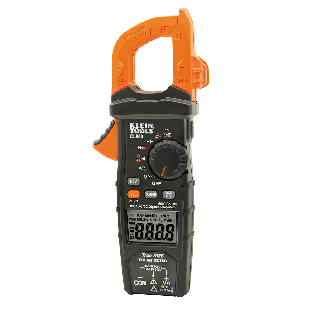 Klein Tools CL800 Digital Clamp Meter with AC/DC Auto-Ranging