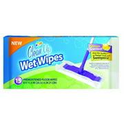 CleanUp Wet Wipes Premoistened Floor Wipes, Lemon, 15 Ct