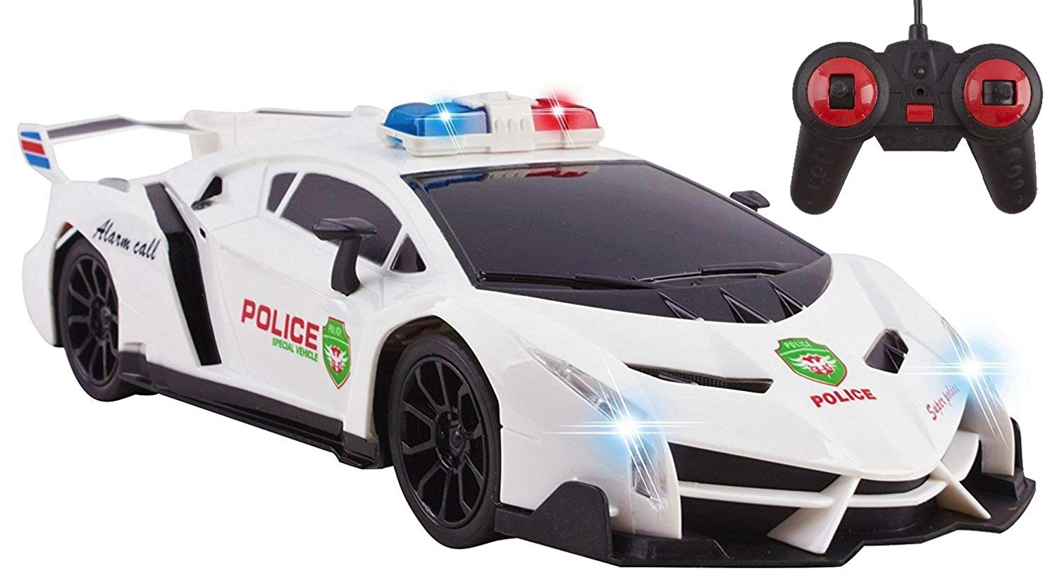 Police RC Car For Kids Super Exotic Large Remote Control Easy To Operate Toy Sports Car with Working... by Vokodo