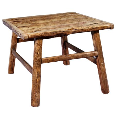 Antique Revival Square Rustic Coffee Table Reclaimed Wood