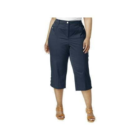 a4ccd3625f6a8 Karen Scott Womens Plus Twill Flat Front Capri Pants - Walmart.com
