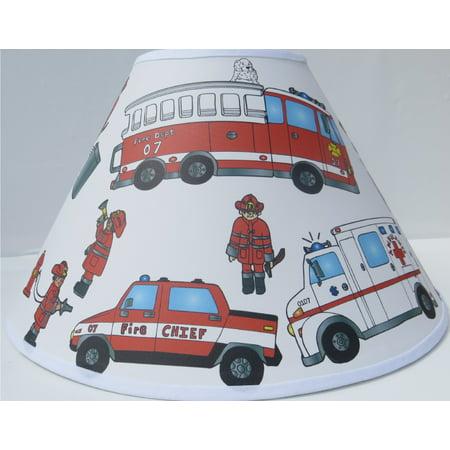 Fire Truck Lamp Shade Children S Nursery Room Decor
